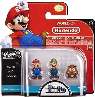 NINTENDO Mario Bros Universe Micro Wave 1: Mario, Luigi and Goomba Action Figure, 3-Pack