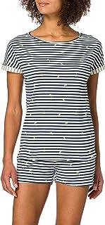 Skiny Women's Damen Pyjama Kurz Pajama Set