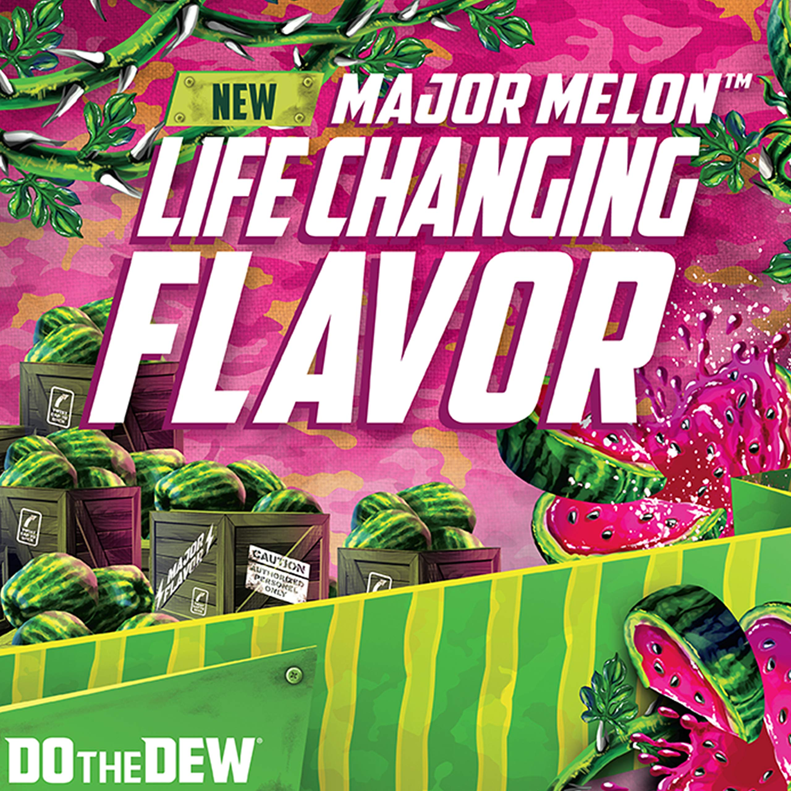 Mountain Dew, MTN Original and Major Melon Variety Pack 12oz Cans Pack, Watermelon, 18 Count