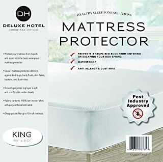 Ultimate Bed Bug Blocker Zippered Waterproof Mattress Protector - 10 YEAR WARRANTY! (King)