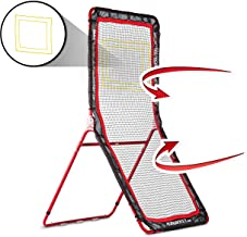 Rukket 4x7ft Lacrosse Rebounder Pitchback Training Screen | Practice Catching, Throwing,..