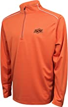 Crable Adult NCAA Men's Quarter Zip with with Shoulder Piping, V Orange/White, Large