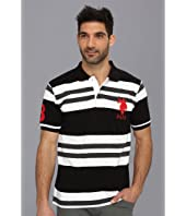 U.S. POLO ASSN. - Multi Colored Striped Polo with Big Pony