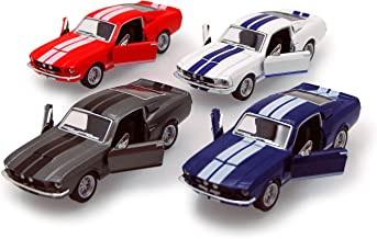 1967 Shelby GT500, SET OF 4 - Kinsmart 5372D - 1/38 scale Diecast Model Toy Cars