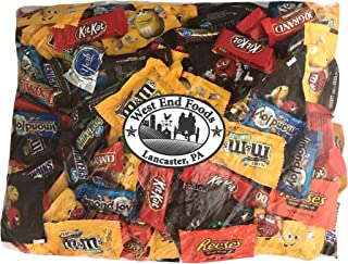 Chocolate Candy (90 oz) Variety Pack Reese's Snickers York Peppermint Almond Joy Kit Kat M&Ms Peanut M&Ms Milk Chocolate 100 Grand Bars Milky Way