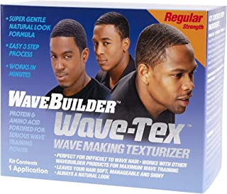 WaveBuilder Wave-Tex Wave Making Texturizer Kit for Difficult to Wave Hair, 1 Application