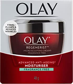 Olay Regenerist Advanced Anti-Ageing Micro-Sculpting Cream Moisturiser Fragrance Free 48g