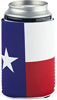 Funny Guy Mugs Texas Flag Collapsible Neoprene Can Coolie - Drink Cooler