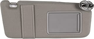 Ezzy Auto Gray Right Passenger Side Sun Visor fit for Toyota Camry Without Sunroof 2007 2008 2009 2010 2011