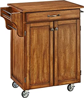 Create-a-Cart Warm Oak Kitchen Cart with Oak Top by Home Styles