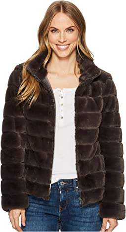 Dylan by True Grit - Soft Faux-Fur Love Zip Jacket with Seamed Stitches, Lining and Pockets