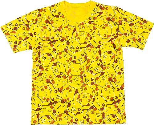 Pokemon Center Original T-shirt Pikachu face pattern L
