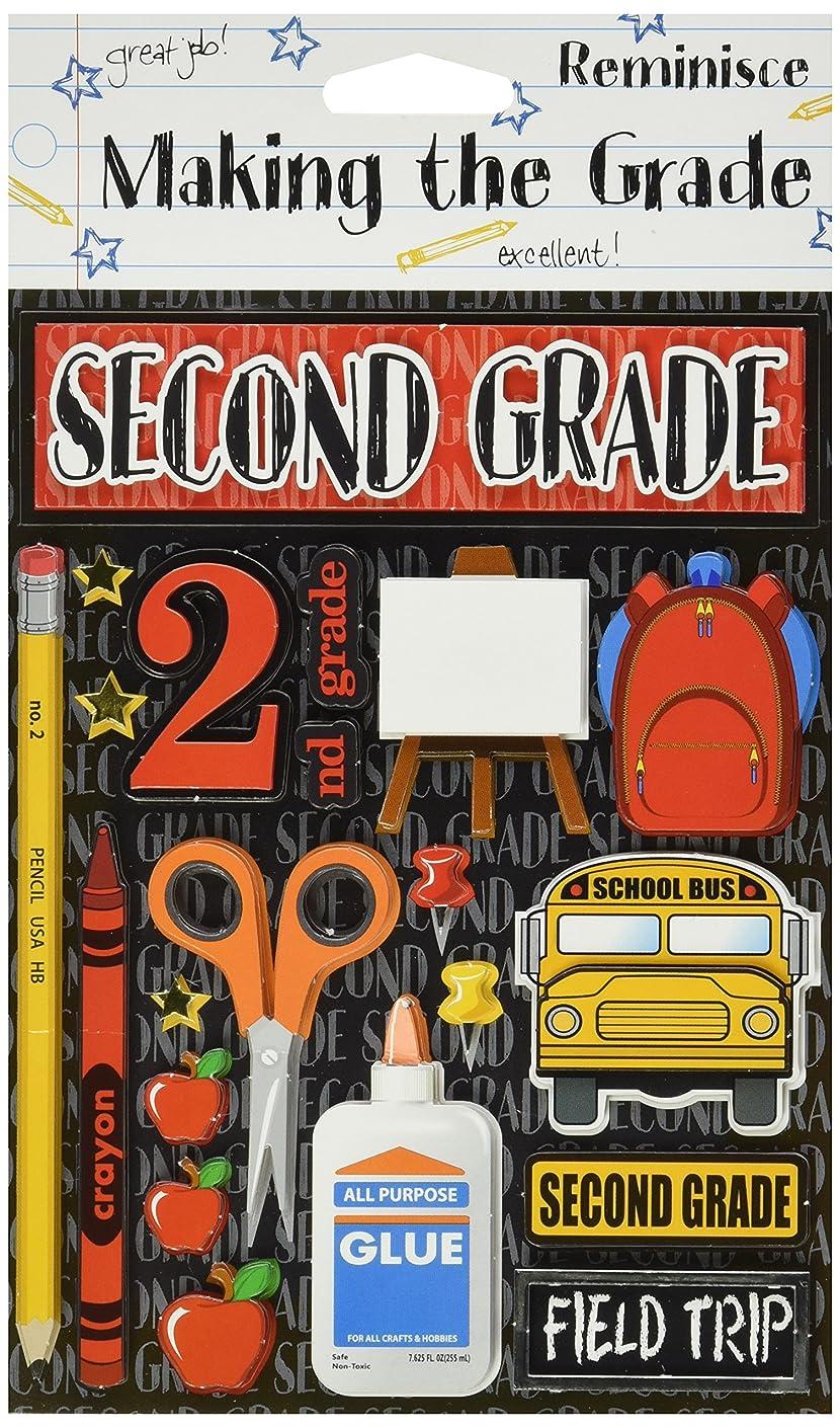 Reminisce Making The Grade 3-Dimensional Second Grade Sticker