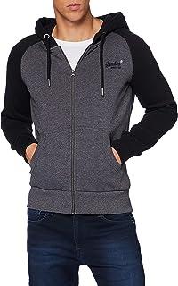 Superdry Men's Ol Classic Raglan Zip Hood Sweater