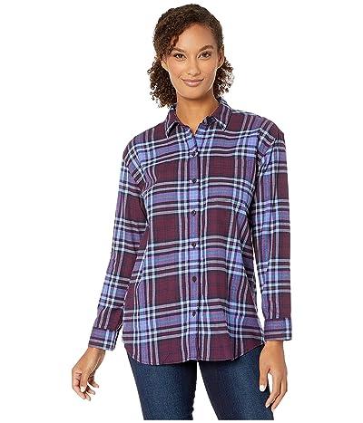 Eddie Bauer Stines Boyfriend 2.0 Flannel Shirt (Dark Plum) Women