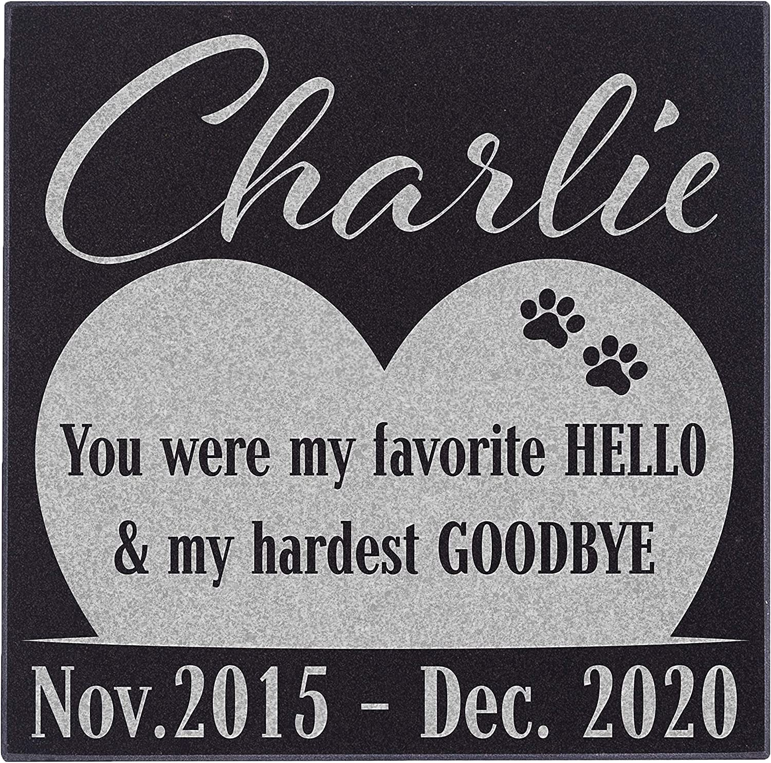 CustomizationMill Pet Deluxe Memorial New Shipping Free Shipping Stone Personalized Granite Dog -