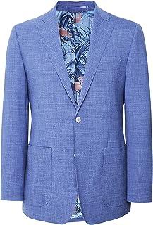 Jules B Men's Linen Silk Jacket Blue