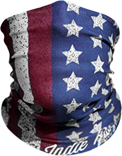 "Indie Ridge ""Old Glory"" Microfiber Polyester Seamless Tube Headwear One Size Fits All, Red White and Blue"