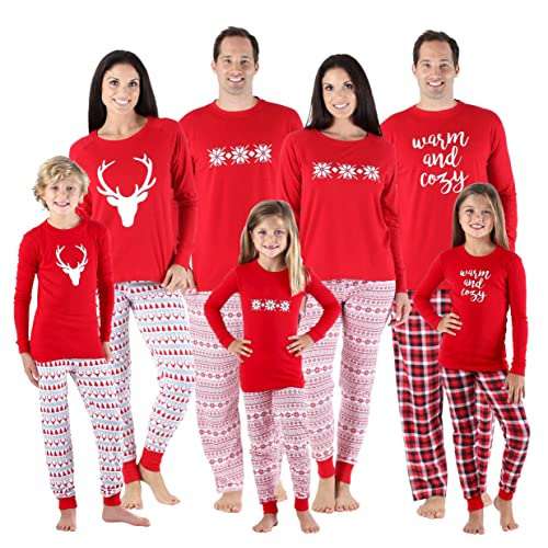 SleepytimePjs Family Matching Sleepwear Knit Holiday Mix and Match Pajamas  PJs Collection b3fd5a59b