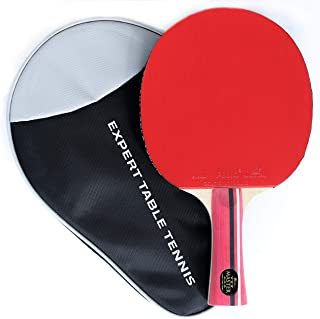 Palio Master 3.0 Table Tennis Racket & Case - ITTF Approved Intermediate Ping Pong Bat