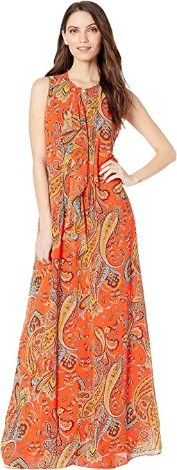 Rustic Paisley Maxi Dress