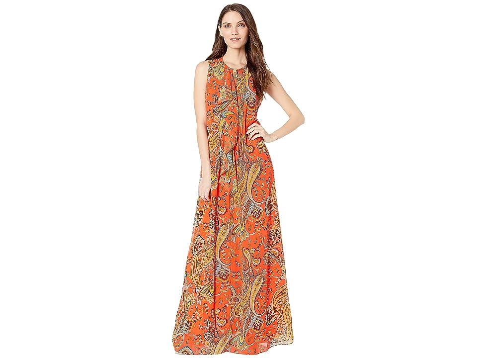 Juicy Couture Rustic Paisley Maxi Dress (Hazy Summer/Rustic) Women