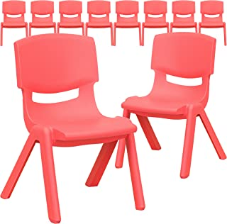 Flash Furniture 10 Pk. Red Plastic Stackable School Chair...