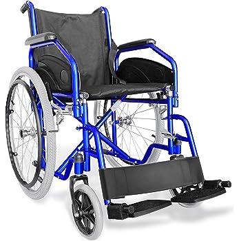 AIESI® Sedia a rotelle pieghevole leggera ad autospinta per disabili ed anziani AGILA EVOLUTION # Braccioli e Poggiapiedi estraibili # Cintura di sicurezza # Garanzia Italia 24 mesi