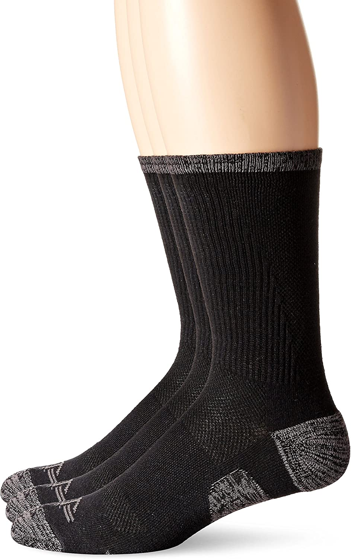 Dockers Men's 3 Pack Temperature Management Crew Socks