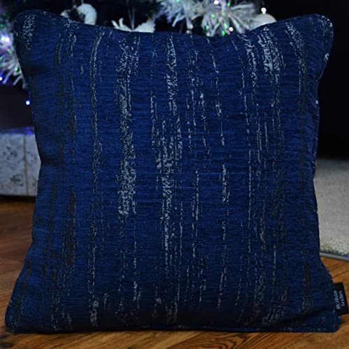 Navy And Silver Pillow Amazon Com
