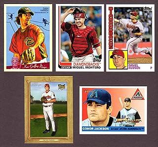 Arizona Diamondbacks (5) Card Heros REPRINT Baseball Lot #56 (Micah Owings) (Dan Haren) (Conor Jackson Rookie) (Miguel Montero) (Daniel Hudson)