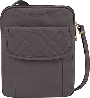 Travelon Travelon Anti-theft Signature Quilted Slim Pouch, Smoke (gray) - 43322-531
