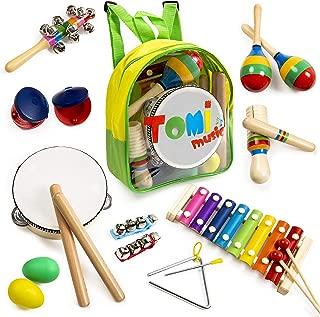 childrens wooden musical instrument set