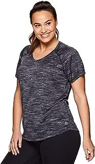Active Women's Plus Size Yoga Workout Short Sleeve V-Neck...