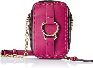 Accessorize London Dawson Faux Leather Women's Sling Bag (Magenta)