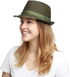 Black Horn Light Weight Classic Soft Cool Mesh Fedora hat