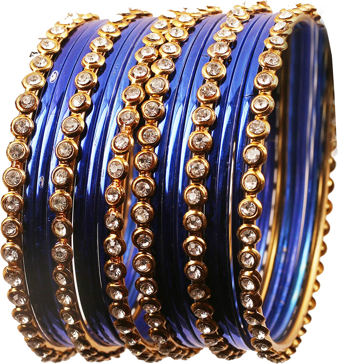 Touchstone Indian Bollywood Gorgeous Golden Flakes Sparkling Rhinestone Vintage Textured Glossy Color Charming Designer Jewelry Bangle Bracelets For Women.