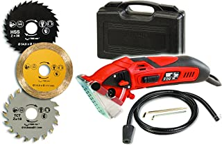 Official ROTORAZER Compact Circular Saw Set DIY Projects -Cut Drywall, Tile, Grout, Metal, Pipes, PVC, Plastic, Copper, Carpet w Blades, Dust Collector & Case AS SEEN ON TV