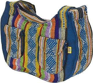PINZON Ladies Canvas Shoulder Bags Mexican Womens Handbag Hippie Hobo Bohemian