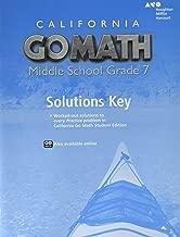 Go Math! California, Grade 7 (Holt McDougal Go Math!)