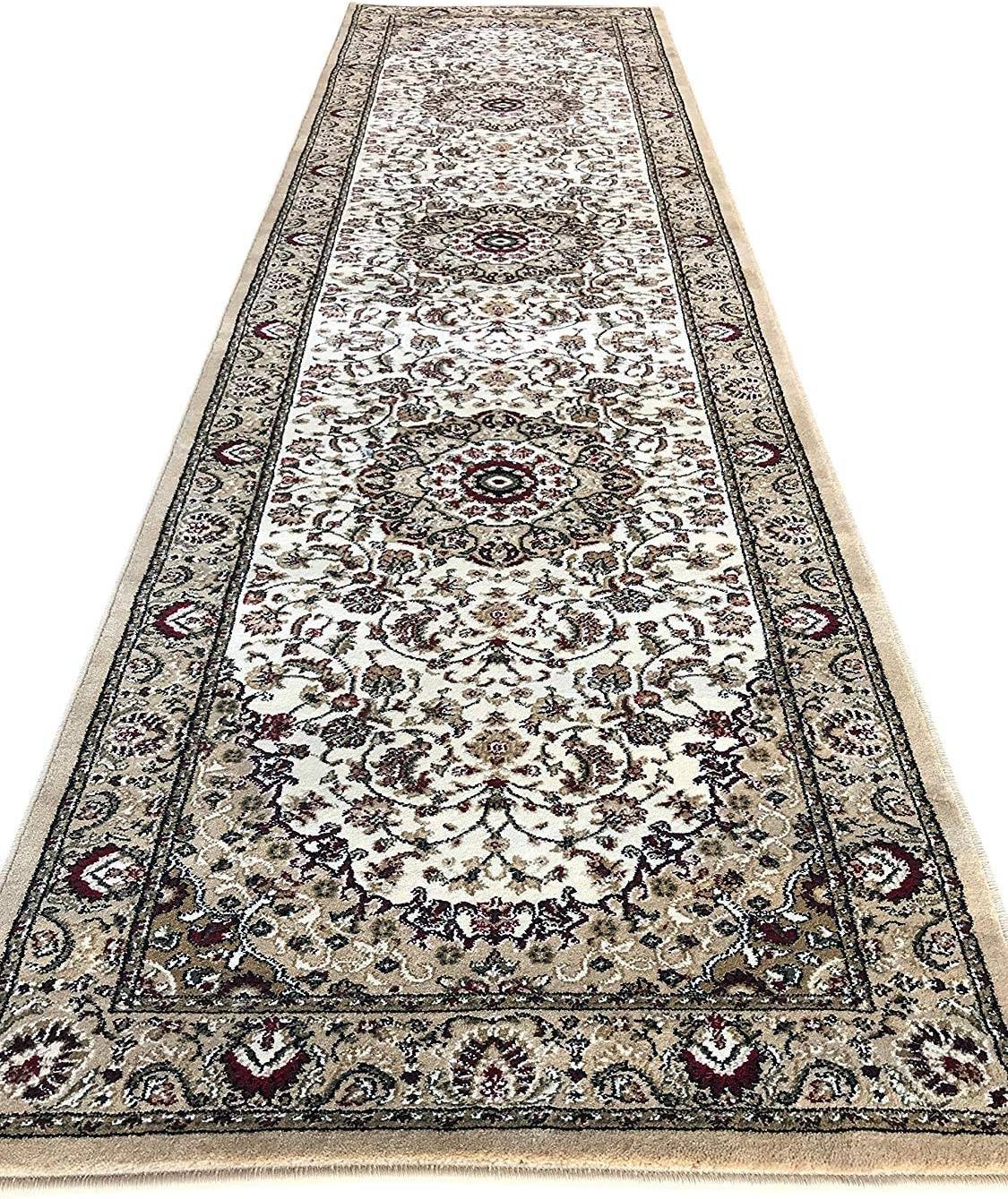 Traditional Long Persian Max 46% OFF Raleigh Mall Oriental Runner Point Ivory 500 000 Bei