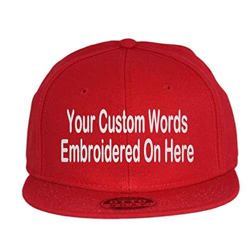 41b23ff94b2d5 Custom Snapback Hat. Otto. Embroidered. Your Own Text Flatbill Bill Snapback .
