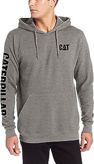 Caterpillar Men's Big and Tall Trademark Banner Hooded Sweatshirt
