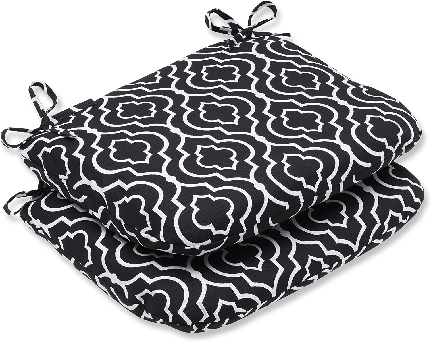 Pillow Perfect Outdoor Starlet Night Rounded Corners Seat Cushion, Set of 2