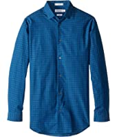 Calvin Klein Kids - Long Sleeve End on End Gingham Shirt (Big Kids)