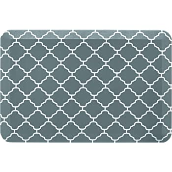 """Amazon Basics Anti-Fatigue Standing Comfort Mat for Home Kitchen and Office - 20"""" x 30"""", Teal Pattern"""