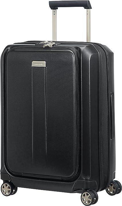 Trolley samsonite prodigy spinner 55 espandibile bagaglio a mano, 2.9 kg, 55 cm, 47 l, nero (black) 74771/1041