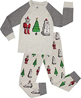 Image of Holiday Block Christmas Characters Pajamas for for Boys and Toddlers - See More Designs