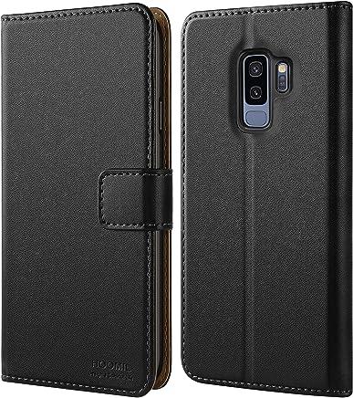 HOOMIL Galaxy S9 Plus Hülle, Handyhülle für Samsung Galaxy S9 Plus Tasche Leder Flip Case Brieftasche Etui Handy Schutzhülle - Schwarz (H3237)