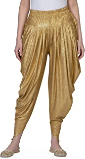 Legis Shimmer Blend Relaxed Comfortable Dhoti Pants Yoga Fitness Active Wear for Women Dance - Free Size